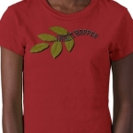 I Make It Happen Green Leaf Womens Short Sleeve Petite Tailored T-Shirt