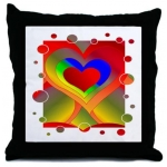 Love Bubbles Out Throw Pillow by Wanda Hope Carter