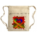Love Bubbles Out Cinch Sack by Wanda Hope Carter
