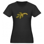 I Make It Happen Green Leaf Womens Short Sleeve Organic Fitted T-Shirt