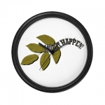 I Make It Happen Green Leaf Wall Clock