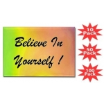 Believe In Yourself Rainbow Rectangular Magnet Multi-Packs