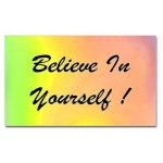 Believe In Yourself Rainbow Rectangular Sticker