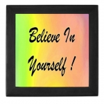 Believe In Yourself Rainbow Tile Keepsake Box