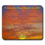 To Achieve Your Dreams Remember Your ABCs Hawaiian Sunset Mouse Pad