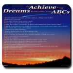 To Achieve Your Dreams Remember Your ABCs Shooting Star Mouse Pad