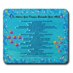 To Achieve Your Dreams Remember Your ABCs Ocean Bubbles Mouse Pad