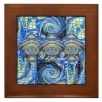 Van Gogh Series Visitors From A Starry Night Framed Tile
