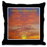 To Achieve Your Dreams Remember Your ABCs  Hawaiian Sunset Throw Pillow