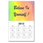Believe In Yourself Rainbow Calendar