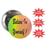 Believe In Yourself Rainbow Button Multi-Packs