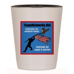 TeamNetworks.Net Walking The Walk Shot Glass | InspirationMotivation.Net