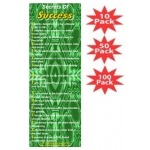 Secrets Of Success Green Spree Bookmark Multi-Packs