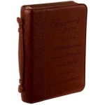 Amazing Grace Lux-Leather Large Bible Cover by Christian Art Gifts