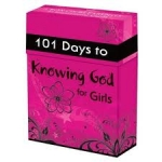 101 Days to Knowing God for Girls Cards (Christian Art Gifts)