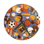 Sports Wall Clock by Mudpuppy Galison