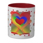 Love Bubbles Out Two-Tone Mug | InspirationMotivation.com