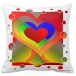 Love Bubbles Out Throw Pillow | InspirationMotivation.com