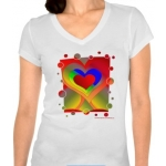 Love Bubbles Out Women's Bella Jersey V-Neck T-Shirt | InspirationMotivation.com