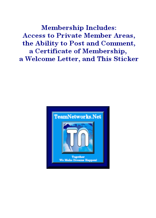 TeamNetworks.Net Membership